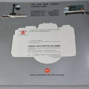 Libretto Informativo Leica R4 Italiano