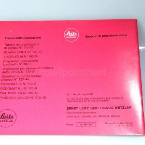 Libretto Istruzioni Leica Leica M5