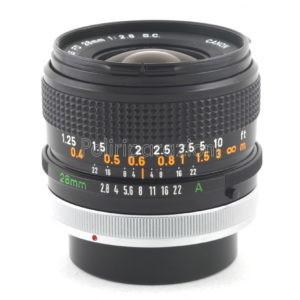 Obbiettivo Canon FD 28 f 1:2,8 S.C.