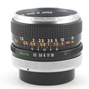 Obbiettivo Canon FD 28 f 1:3,5