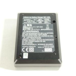 Caricabatterie Konica Minolta BC-400 per batterie NP-400 Maxxum 5D 7D A1 A2 A-5 A-7