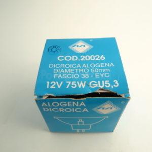 Dicroica 12v75w gu5,3