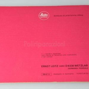 Libretto Istruzioni Leica Diascriptor 4 Italiano