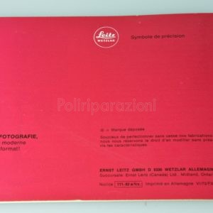 Libretto Istruzioni Leica Dispositivo a Soffietto-R Francese