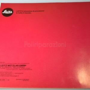 Libretto Istruzioni Leica Focomat V 35 Autofocus Italiano